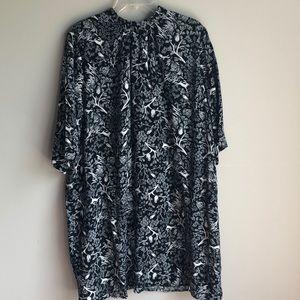 NWT Old Navy Black White long sleeve shirt dress